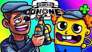 Gartic Phone Funny Moments - Demonetized Video with Irish Spongebob!