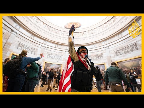 شاهد لقطات جديدة لاقتحام مبنى الكونغرس والمقتحمون ننفذ أوامر الرئيس