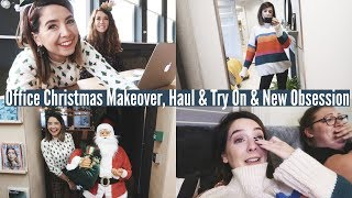 OFFICE CHRISTMAS MAKEOVER, HAUL & TRY ON AND NEW OBSESSION | WEEKLY VLOG