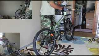 unboxing folding bicycle - HUMMER -