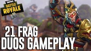 21 Frag Duos Gameplay! - Fortnite Battle Royale Gameplay - Ninja