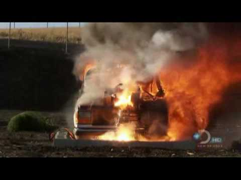 1000 lbs of thermite Melt SUV