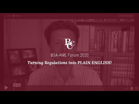 BSA - AML Forum 2020 - YouTube
