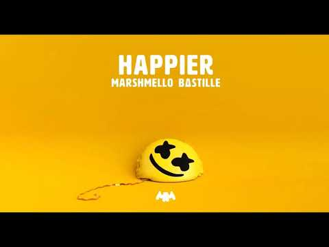 Happier by Marshmello ft Bastille [1 hour loop] (видео)