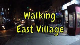 ⁴ᴷ Walking Tour of East Village, Manhattan, NYC at Night (Vibrant Nightlife)