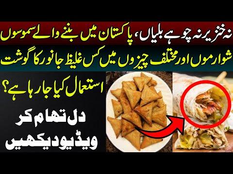 پاکستان میں سموسوں، شوارموں اور مختلف چیزوں میں کس غلیظ جانور کا گوشت استعمال کیا جا رہا ہے ؟:ویڈیو دیکھیں