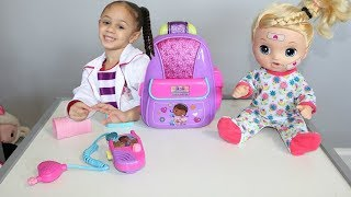 Disney Doc Mcstuffins First Responders Backpack Set With Baby Doll Imanis Family Fun World