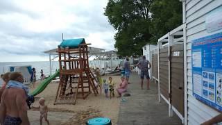Крым. Городские пляжи. Набережная. Пляжи после шторма в Евпатории