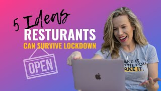 How to make money as a restaurant in a lockdown | 2020 Special Restaurant Marketing Ideas