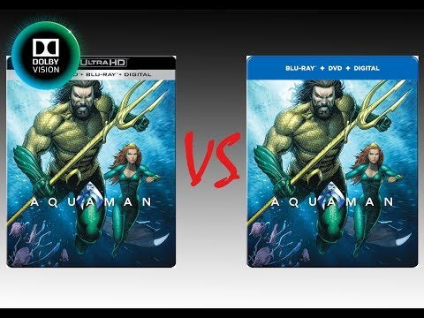 ▶ Comparison of Aquaman 4K Dolby Vision (2K DI) vs Regular Blu-Ray Edition