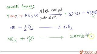 In the ostwald/'s process, nitric acid is prepared by the catalytic oxidation of :