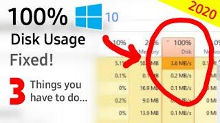 Disk Usage 100% Problem Fix! | Solved | Windows 10