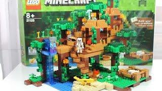 LEGO Minecraft 2016 Set 21125 Das Dschungel Baumhaus Unboxing U0026 Review  Deutsch German
