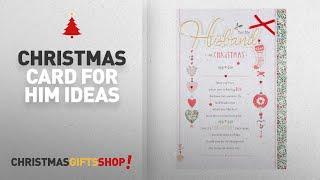 Top 10 Christmas Card For Him Ideas: Hallmark Husband Christmas Card 'Very Lucky' - Large