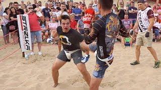 FAT DUDE run into MMA HUNTER!!! Crazy Fight !!