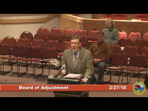 Board of Adjustment 2.27.18