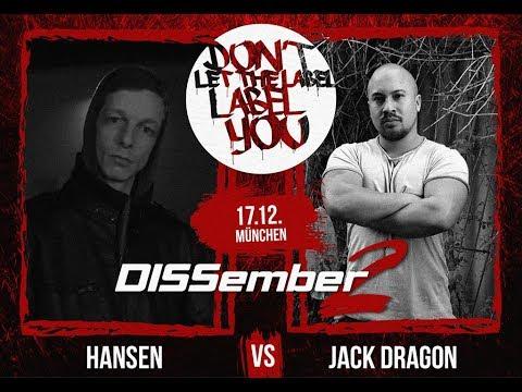 Jack Dragon vs Hansen // DLTLLY RapBattle (DISSember2 // München) // 2017