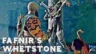 GOD OF WAR - How to Get FAFNIR's WHETSTONE (Fafnir's Hoard Favour) - GOD OF WAR 4 Gameplay