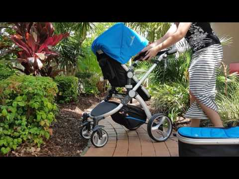 Paradise Bliss Pram 3 in 1 Bassinet, Stroller & Carrycot