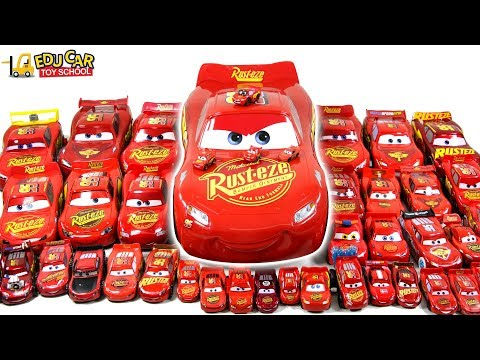 Red Color Disney Cars Lightning McQueen and Learning Color Mack Truck Play for kids car toys