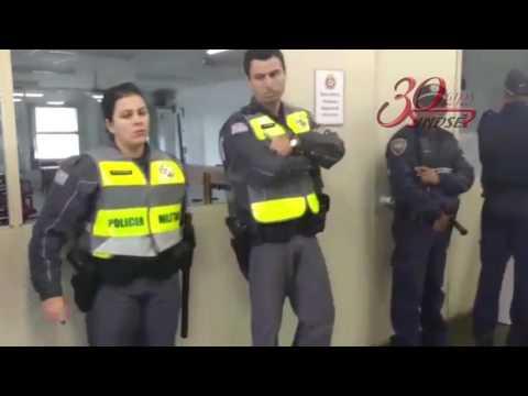 Os dirigentes João Batista e Cleber na Prefeitura Regional de Pinheiros