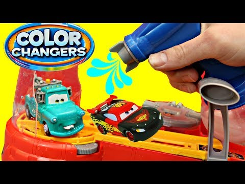 Disney Cars Color Changers Cars 3 Lightning McQueen & Mater Toys Playset DisneyCarToys Compilation