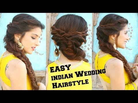 Wedding Hairstyle For Medium To Long Hair Fishtail Braid Hairstyle