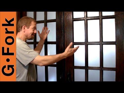 Frost Glass Easy DIY How To - Window Frosting Film - GardenFork