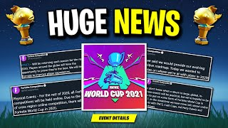 Epic Games Just ANNOUNCED Next Fortnite World Cup! (Huge News)