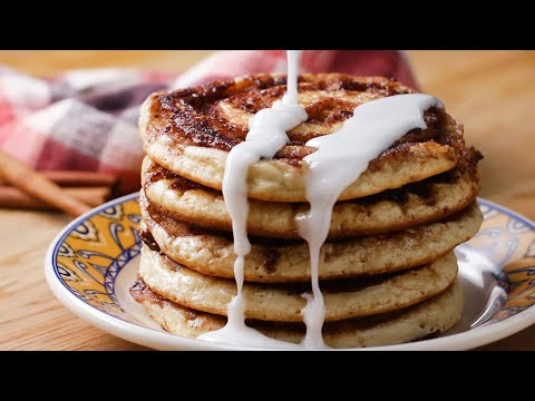 Cinnamon Roll Pancakes With Chloe Coscarelli