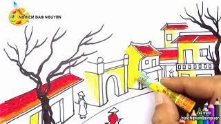 Vẽ tranh phong cảnh thành phố/How to draw the City
