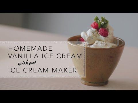 Video Homemade Vanilla Ice Cream without Ice Cream Maker