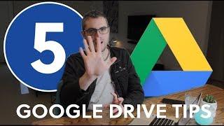 5 Tips For Using Google Drive / Google Docs