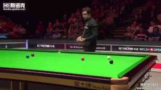 Ronnie O'Sullivan - Can't imagine for a minute he can clear up from here!