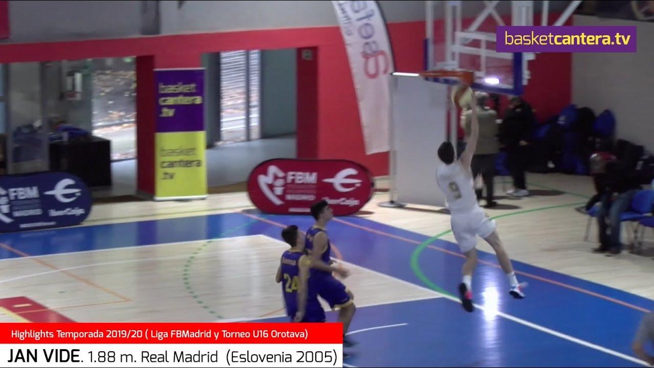 JAN VIDE 1.88 m. Real Madrid. Temp. 19/20. Eslovenia 2005 (BasketCantera.TV)