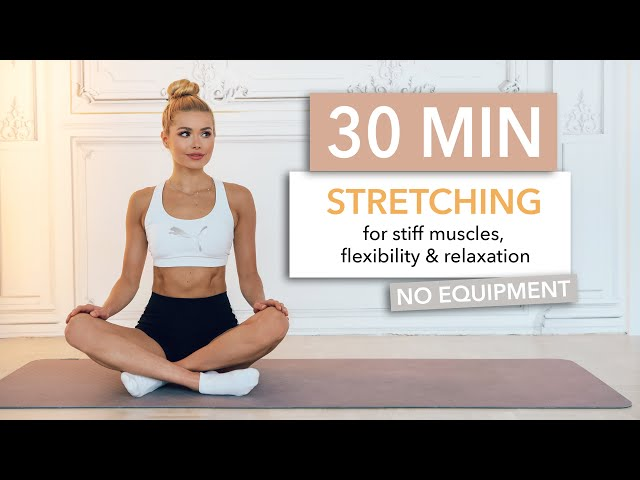 30 MIN FULL BODY STRETCHING – perfect for rest days / No Equipment I Pamela Reif