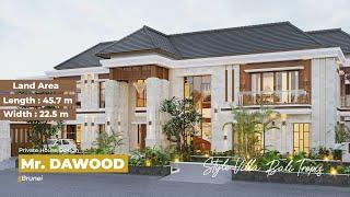 Video Desain Rumah Villa Bali 2 Lantai Mr. Dawood di  Brunei Darussalam