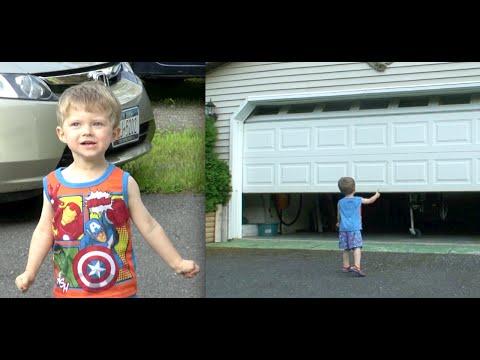 TODDLER IS A SUPERHERO  - EPIC GARAGE DOOR PRANK