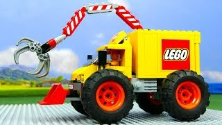 LEGO Experimental Truck vs Tractor and Monster Truck  |  Kids Cartoon |  Cars For Kids