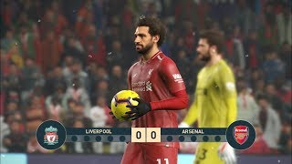 LIVERPOOL vs ARSENAL I Premier League I PES 2019 Penalty Shootout 1