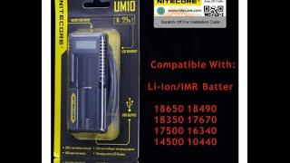 Одноканальное USB-зарядное устройство Nitecore UM 10, LCD дисплей от компании Большая ярмарка - видео