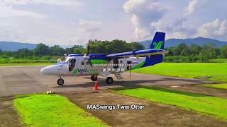 Twin Otter Flight To Bakelalan From Lawas, Sarawak Malaysia Trans Borneo Travel 跨境婆罗洲马来西亚砂拉越巴卡拉兰高原