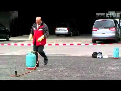 Gasflasche: Feuer und Explosion auf der Preventa-Messe vorbeugen