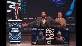 Full Deontay Wilder v Tyson Fury crazy London press conference   Warning: contains bad language