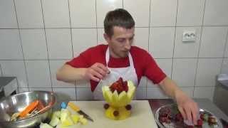Как сделать вазочку из дыни - Фруктовый мастер - Fruitm