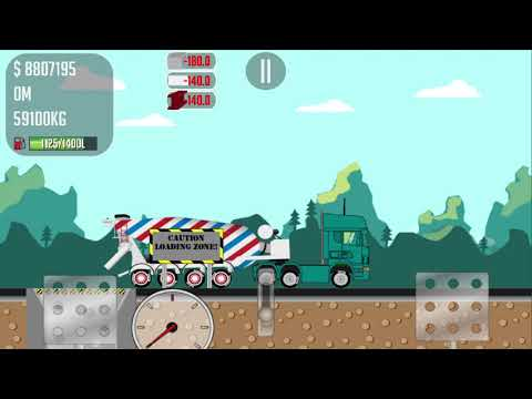 COOL GAME TRUCKER JOE TRANSPORTING CONCRETE TO A COPPER MINE CONSTRUCTION SITE