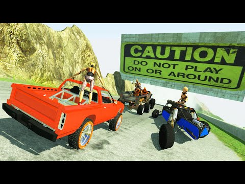 GOD MODE High Speed Downhill - BeamNG DRIVE
