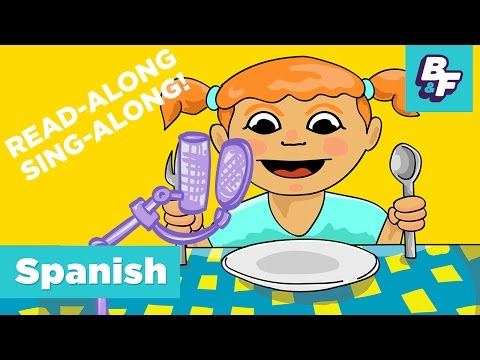 Sing-Along Children Song - Learn Spanish Food Vocabulary with BASHO & FRIENDS - ¡Tengo Hambre!