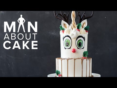 Man About Cake CHRISTMAS SPECIAL   Unicorn Reindeer Buttercream Cake with Joshua John Russell