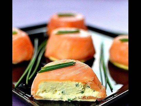 Закуска из лосося и сыра.Очень вкусно и красиво!